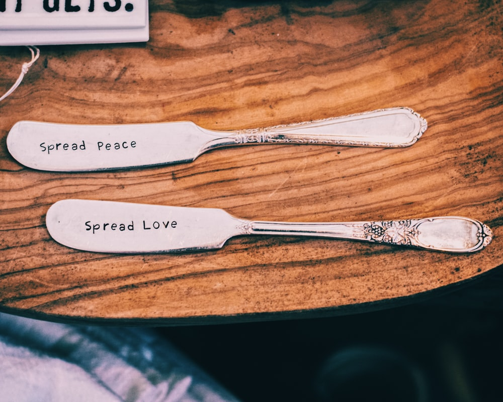 silver fork and bread knife