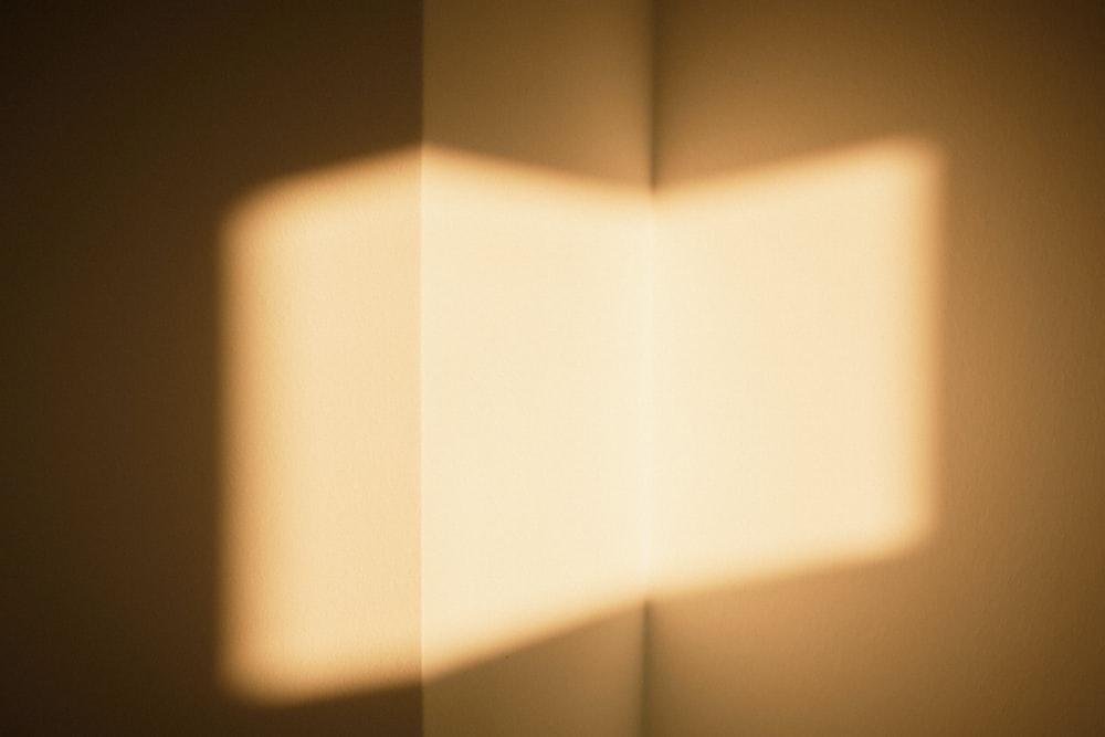 white light bulb turned on in room