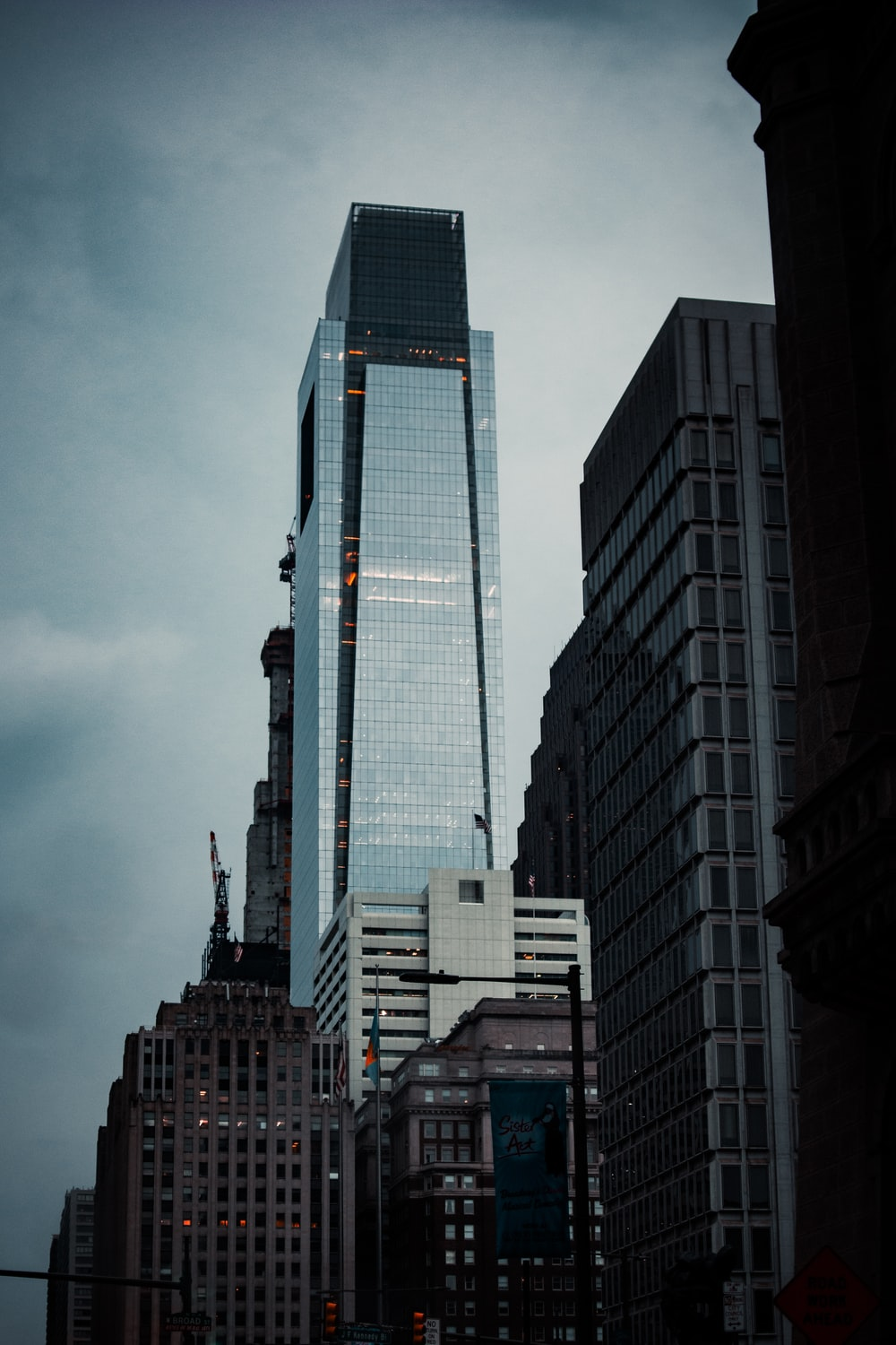 high rise building under gray sky
