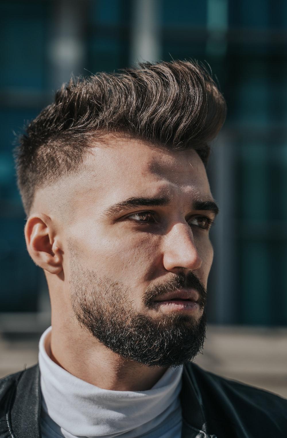 mens mohawk haircut with beard