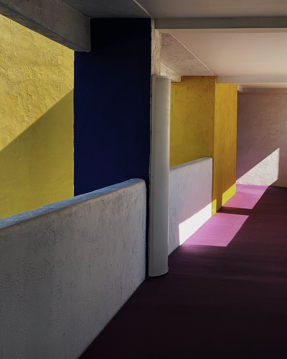 yellow and white painted wall