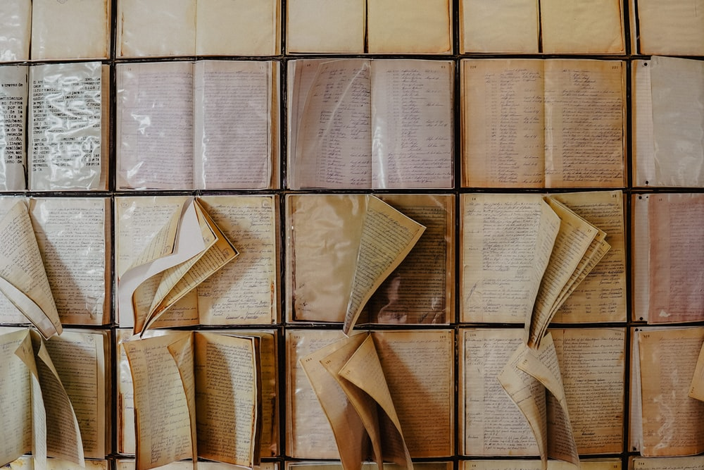 brown and white paper bags
