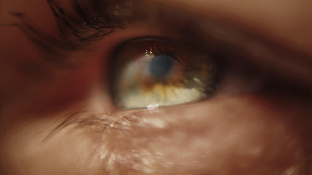 persons eye in close up