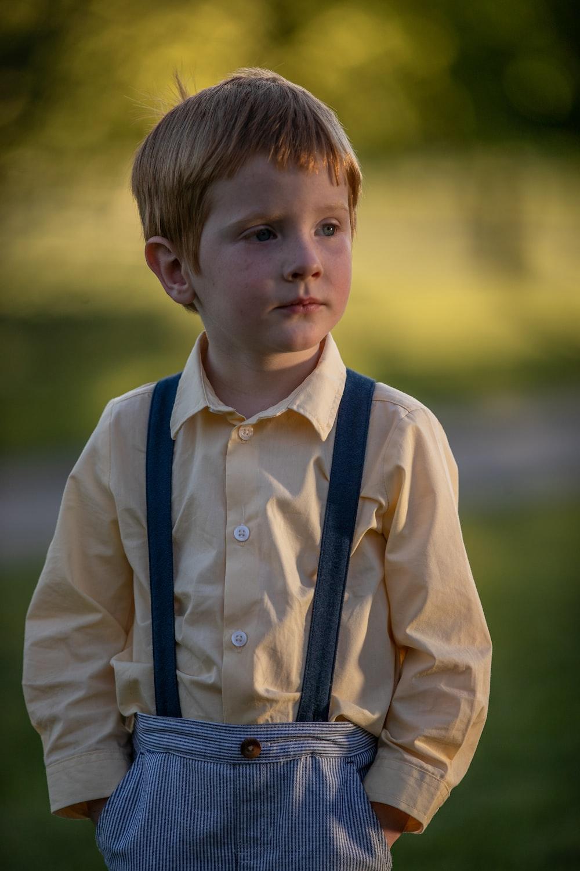 boy in white dress shirt and black necktie