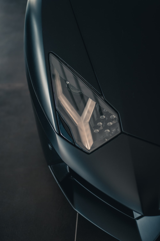 black car with broken glass
