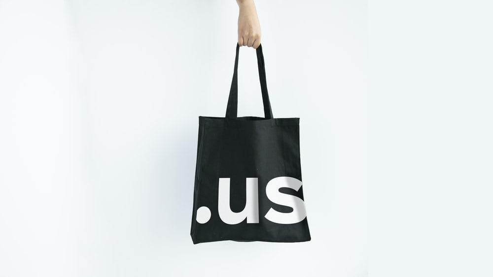 black and white adidas tote bag