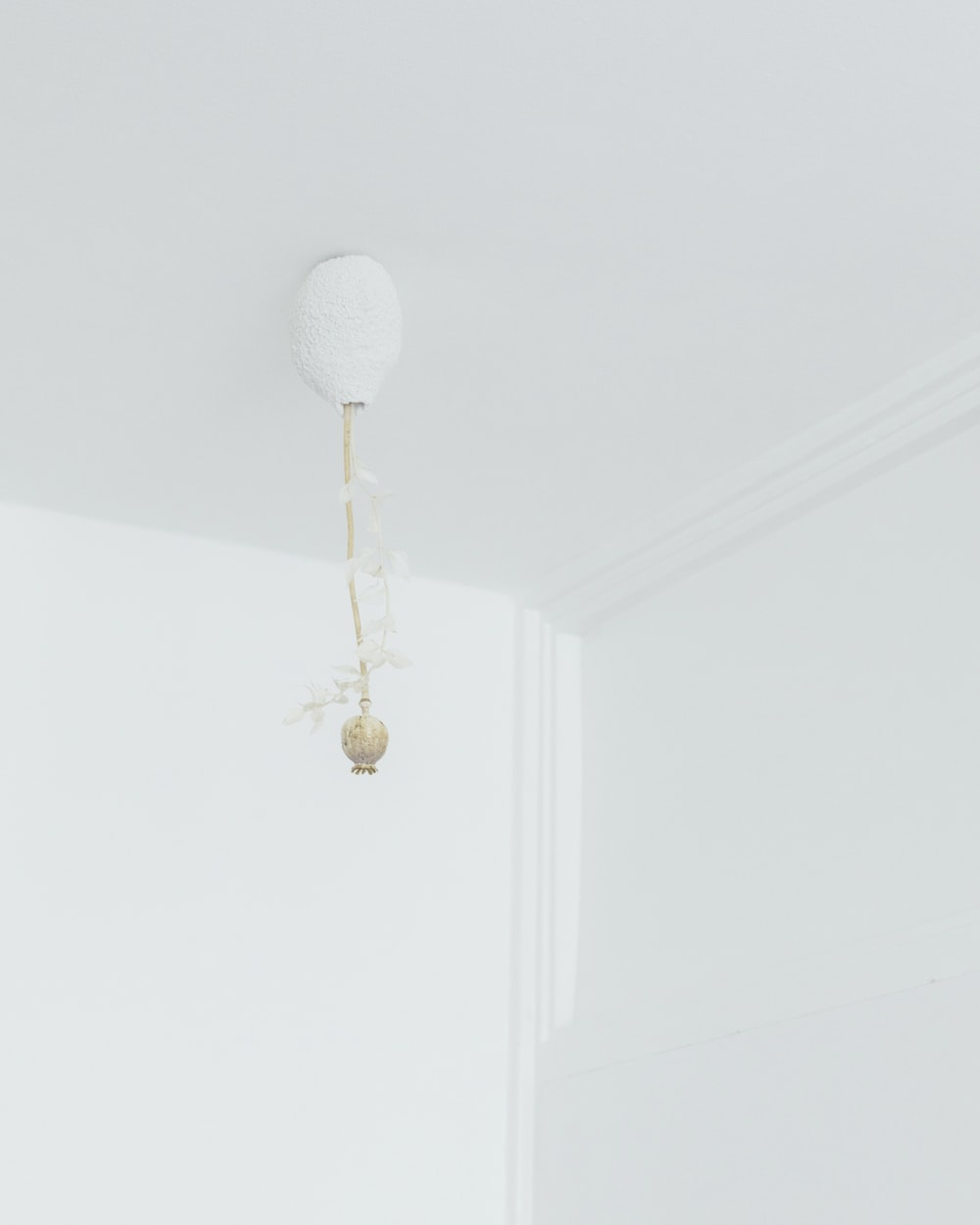 white and gold pendant lamp