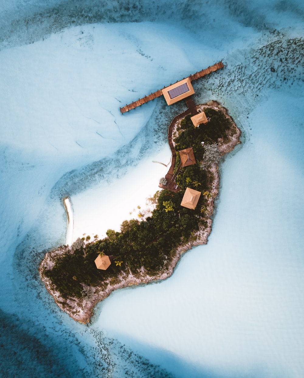 aerial view of island surrounded by body of water