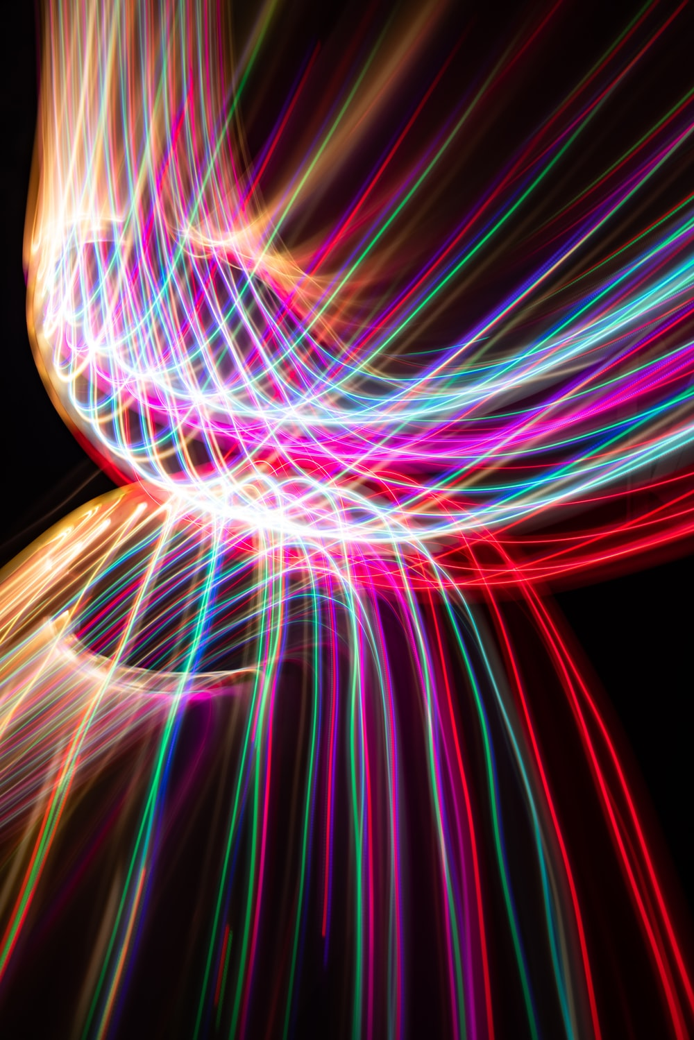 red and blue light digital wallpaper
