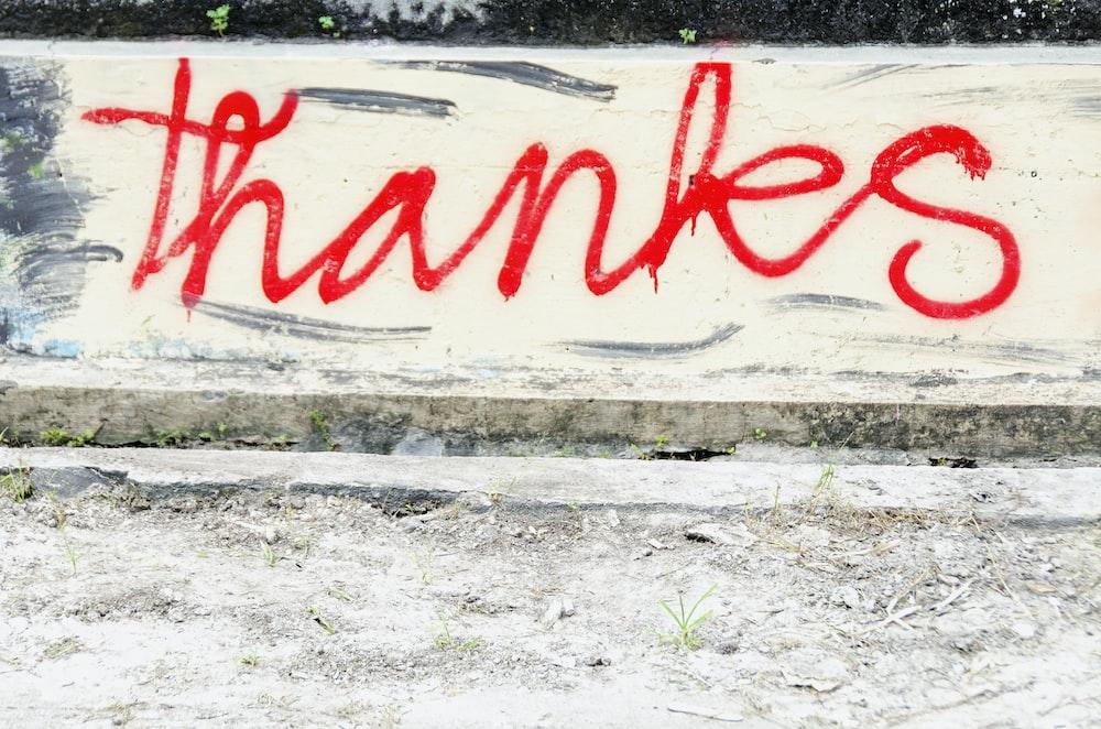 red and white wall graffiti