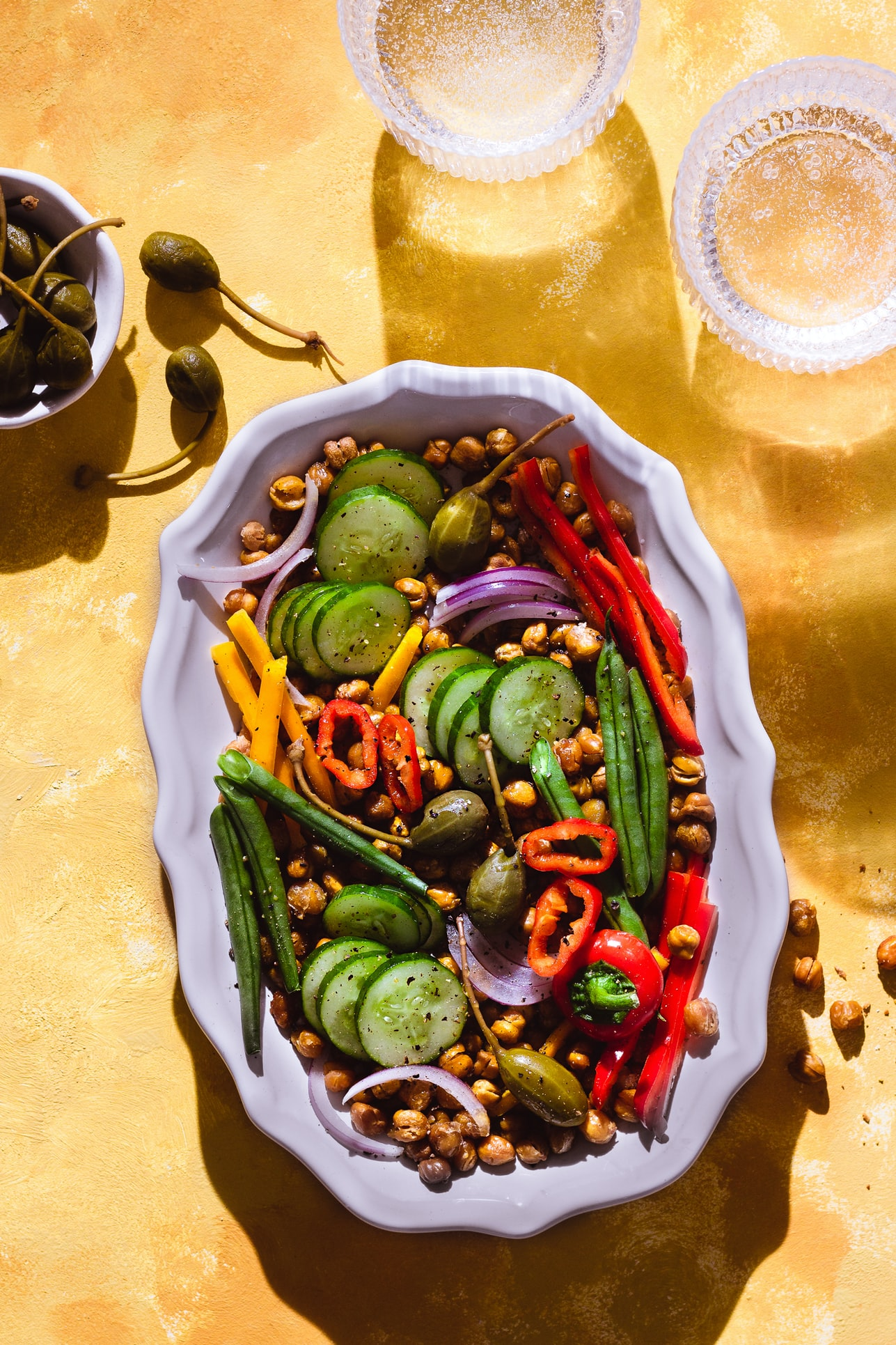 Salad with caper berries| Royalty free from Unsplash