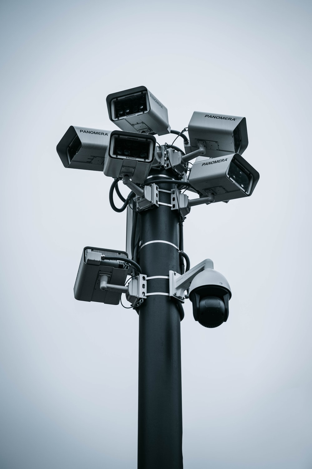 black and gray camera stand