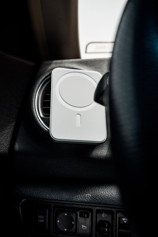 black and white car door handle