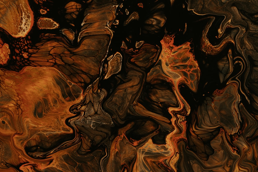 brown and black abstract painting