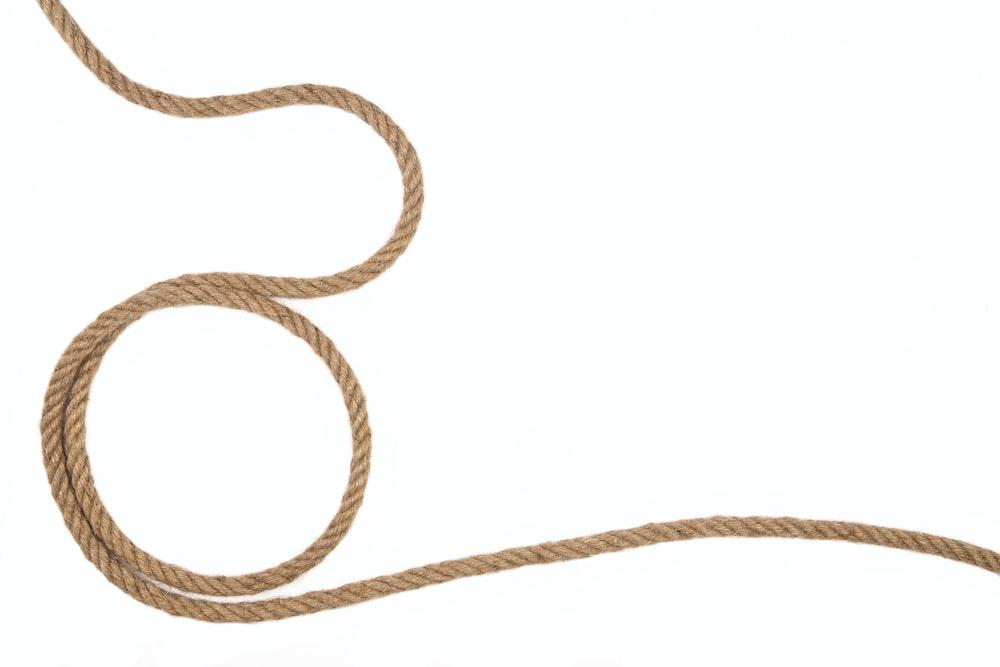 white and black rope illustration