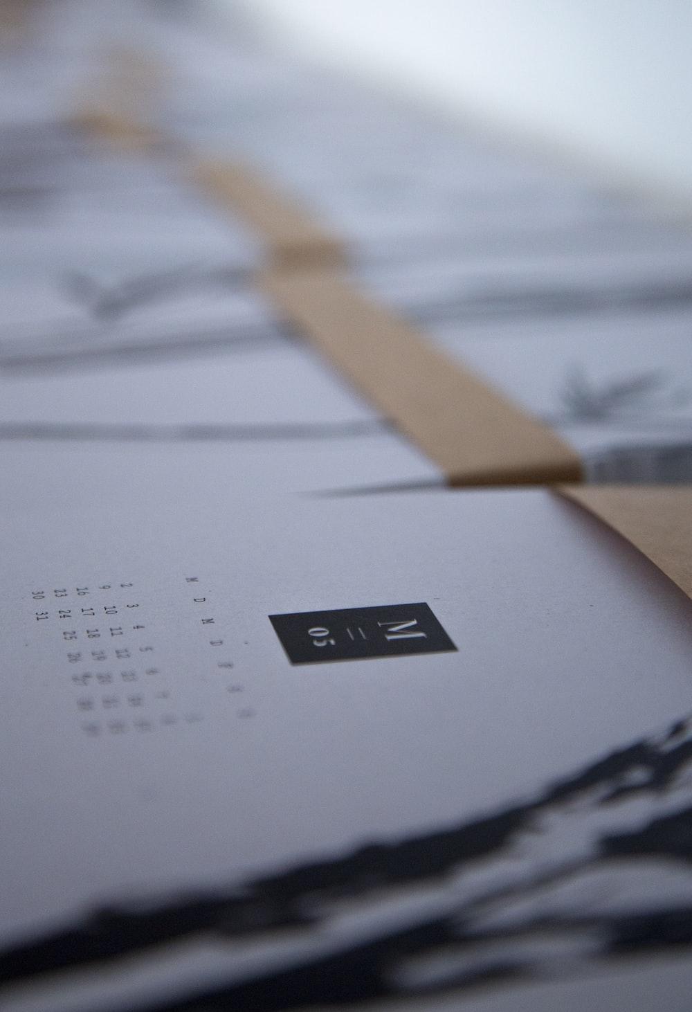 white printer paper with black print