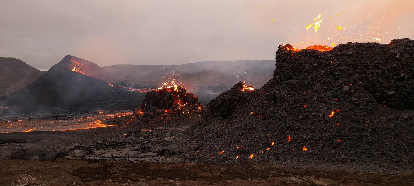 Eruption of Eldfell Volcano