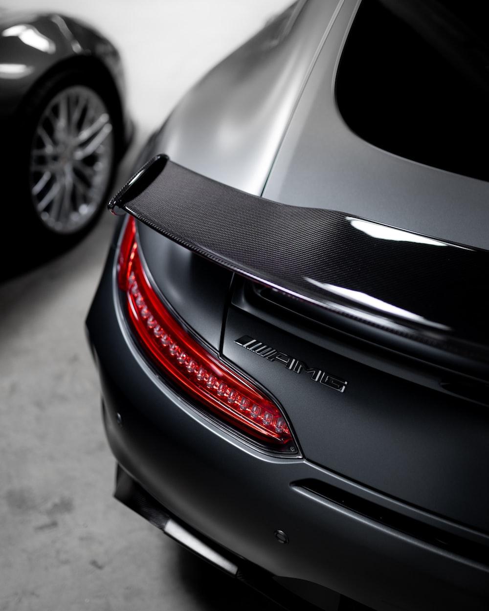black car with open door