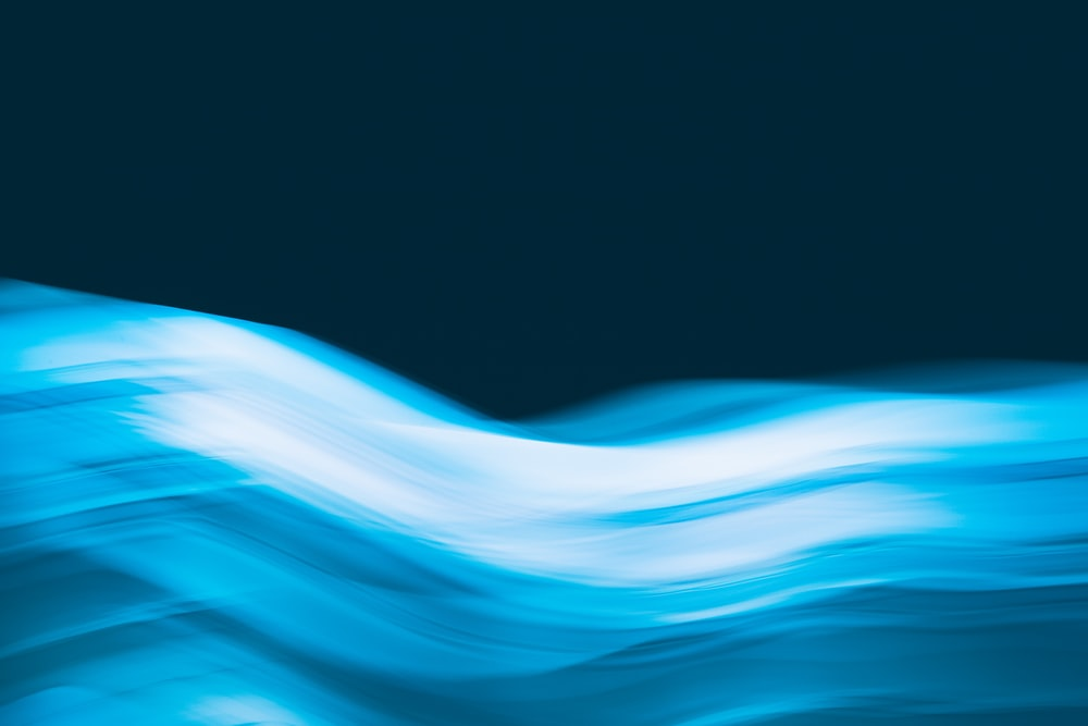 blue and white light waves
