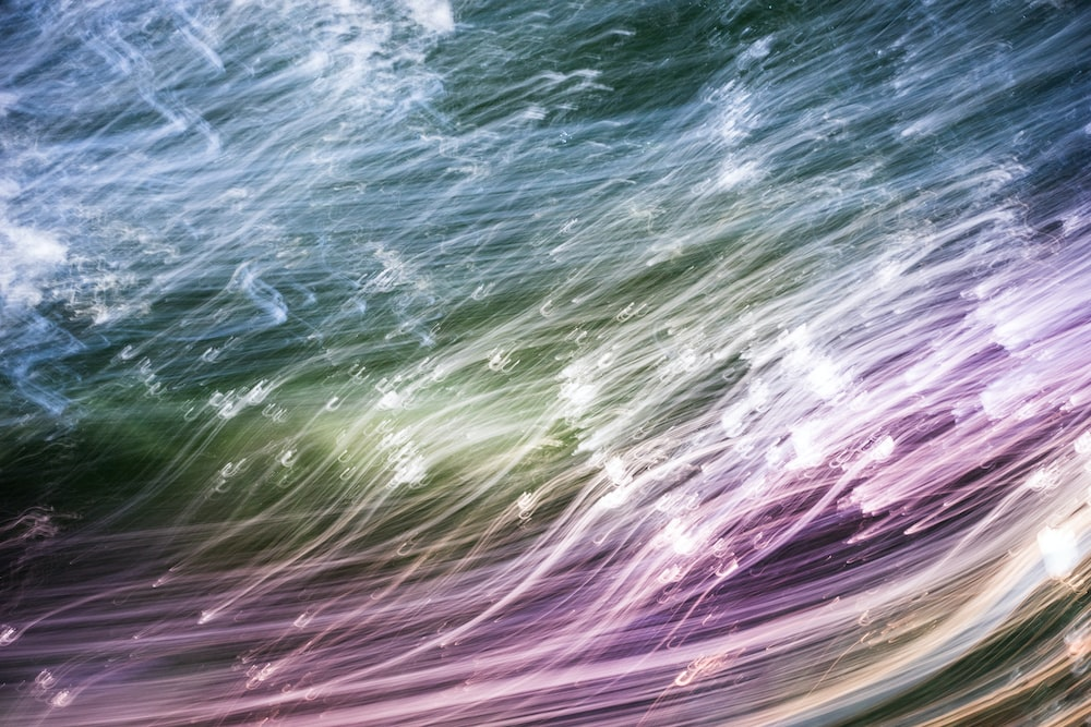 green and blue water waves