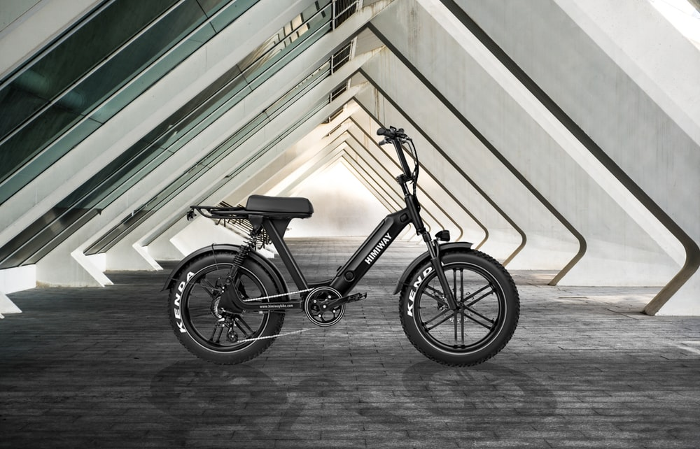black and gray bicycle on gray concrete floor