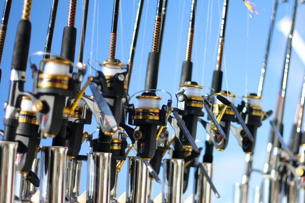 gold and silver fishing rods