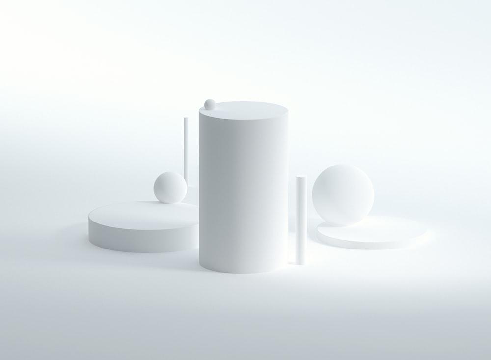 white round plastic on white surface
