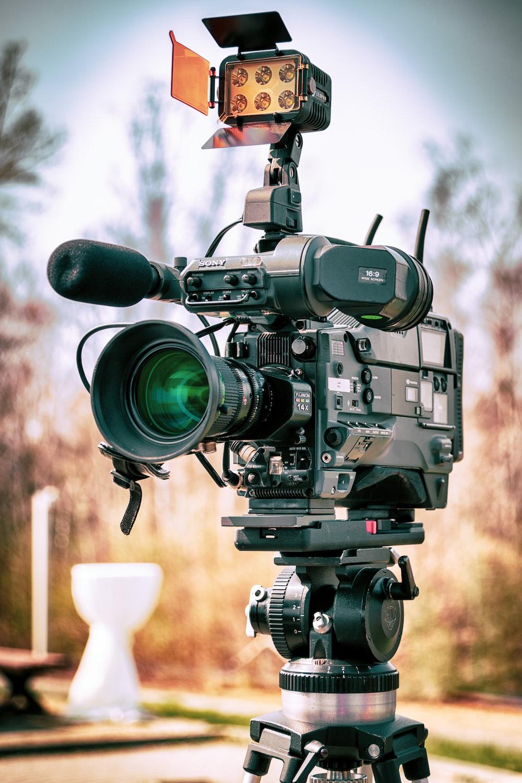 black and gray video camera