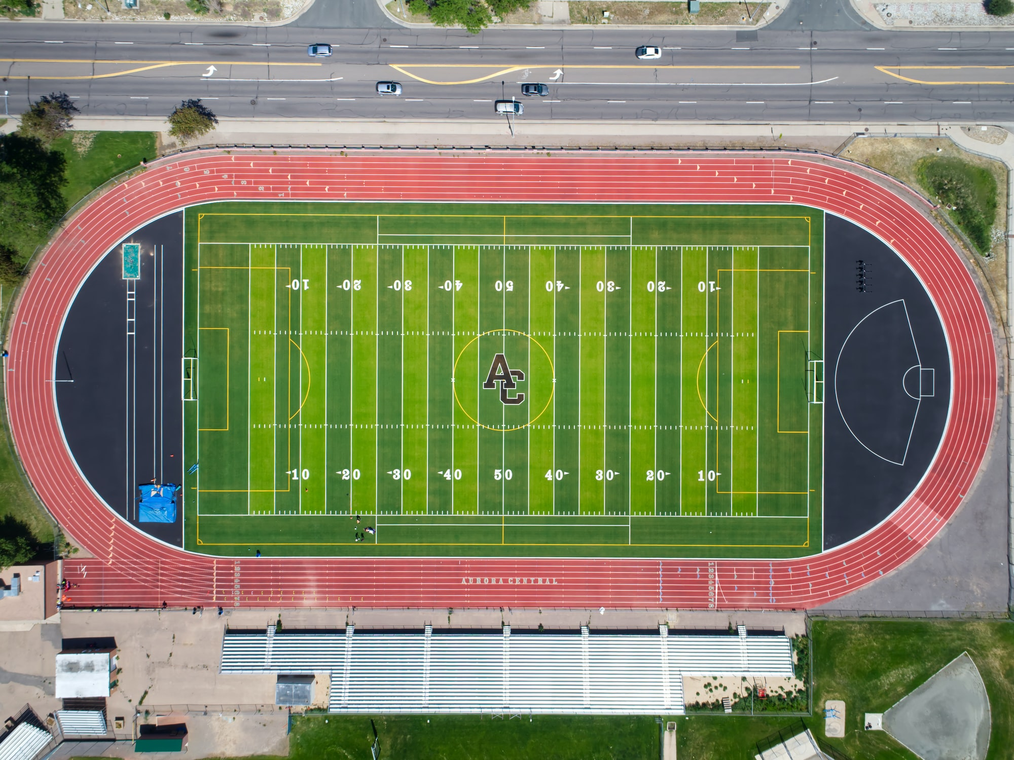 Aurora Central High School track and football/soccer field.