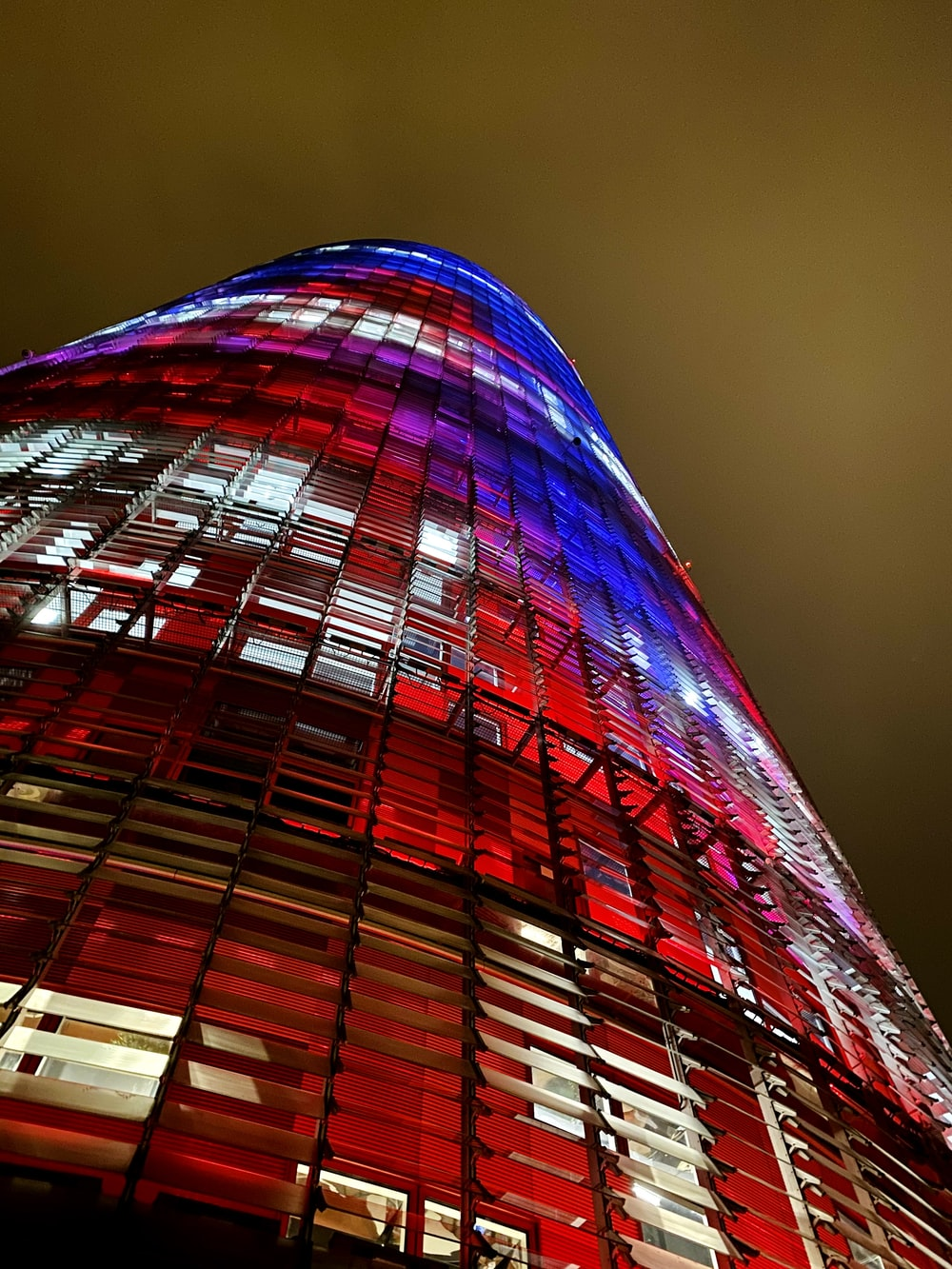 red and black glass building