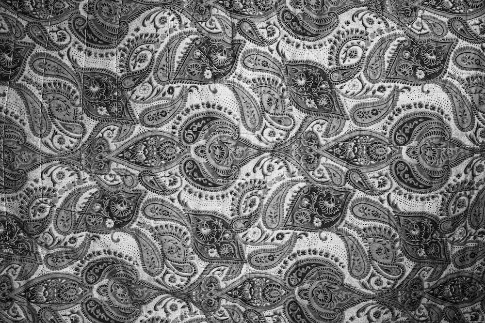 black and white tribal textile