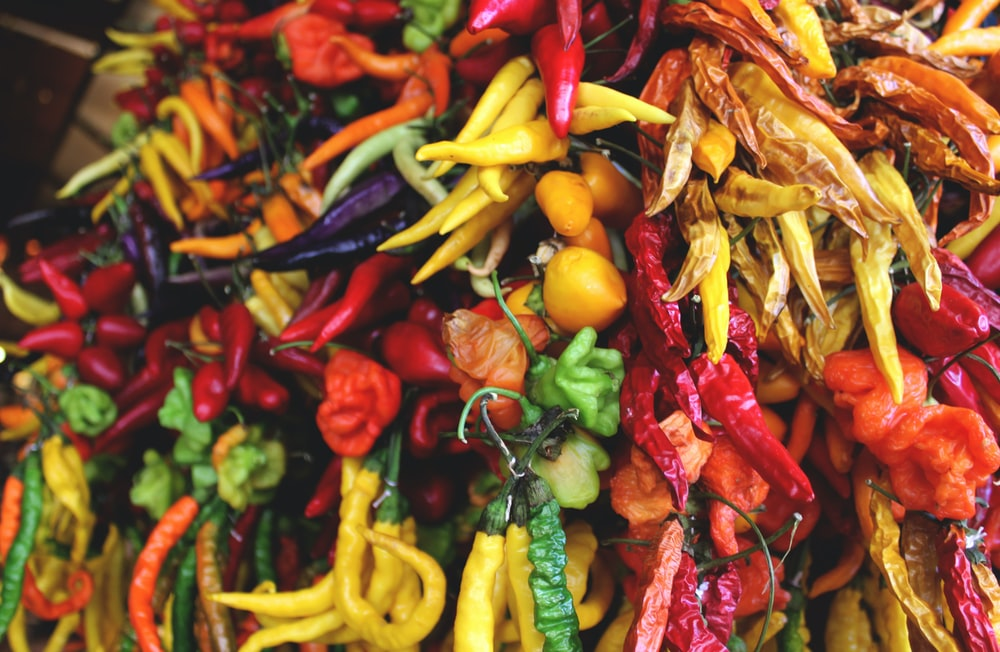 red and yellow chili peppers