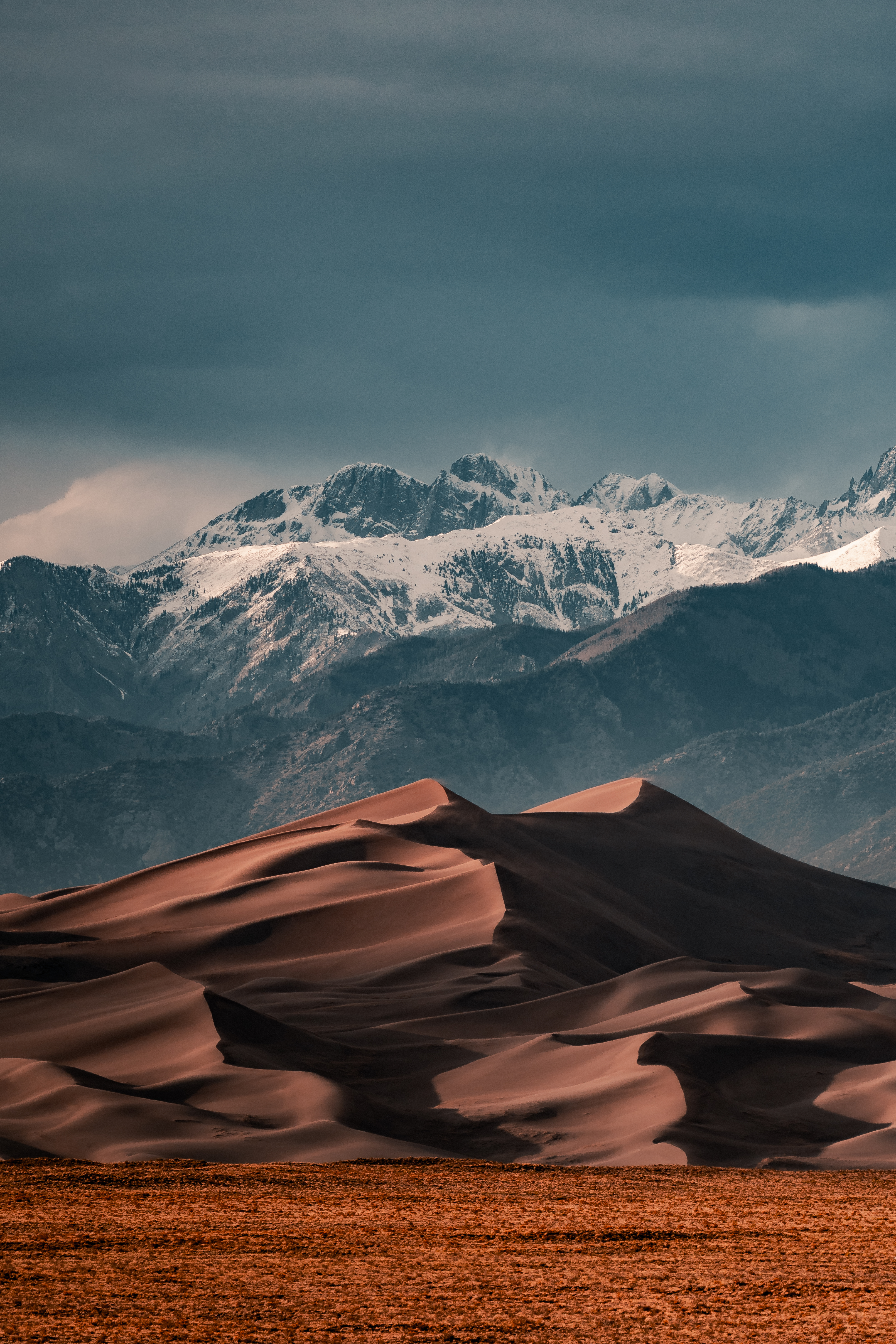 snow covered mountains during daytime