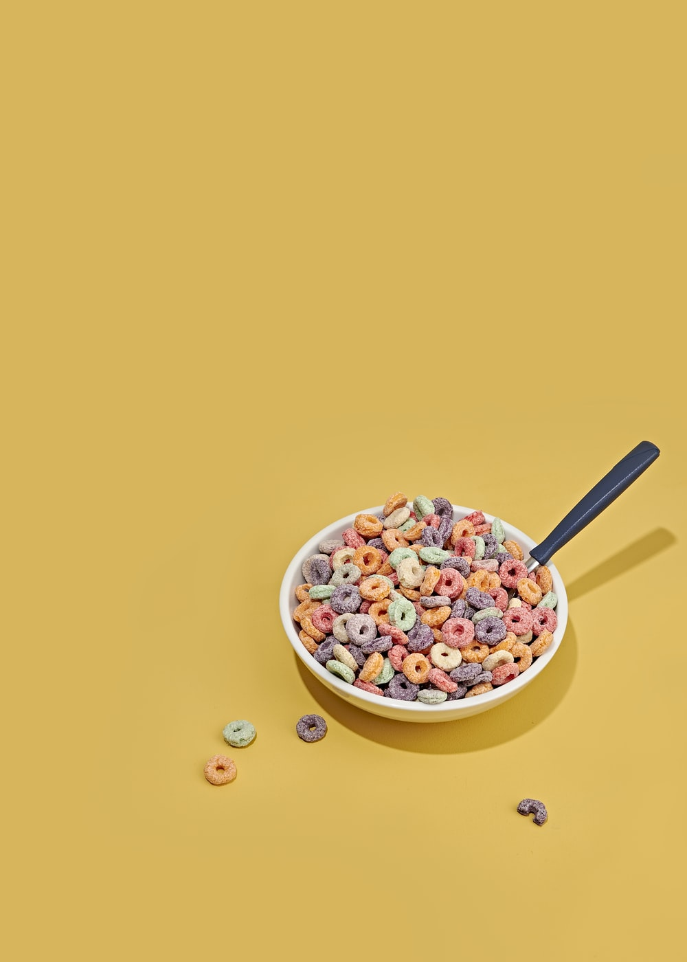 cereals with milk on bowl