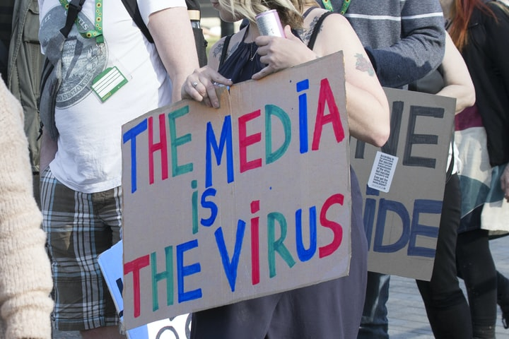 Anti-Vaccine Protesters Clash With Police at London BBC's studios.