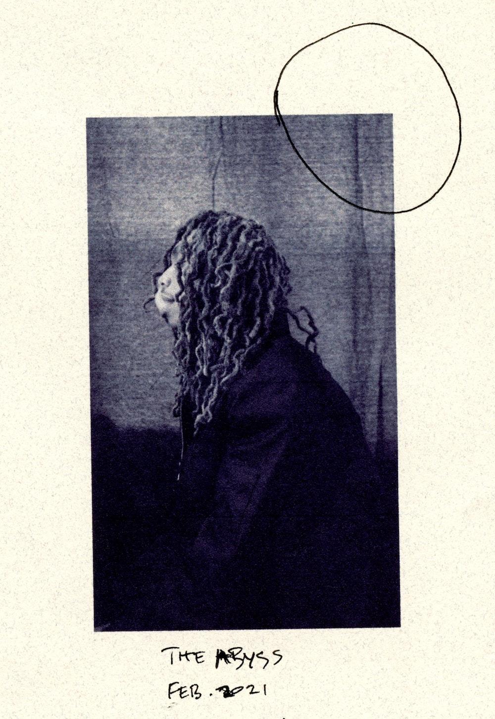 woman in black coat sketch
