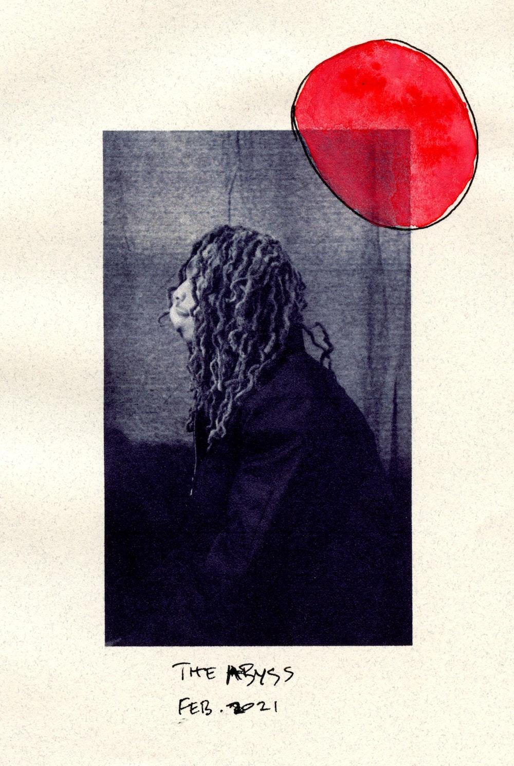 woman in black coat grayscale photo