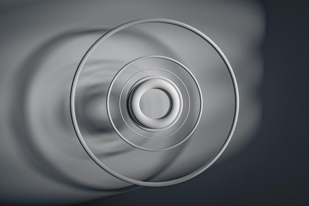 white round light on ceiling