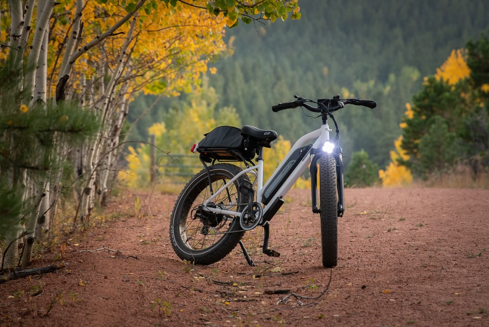 electric mountain bike in the forest