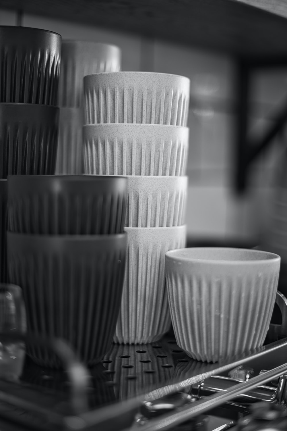white ceramic cup on table