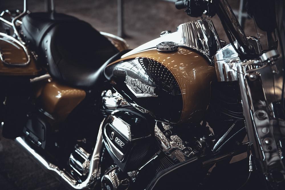 orange and black motorcycle during daytime