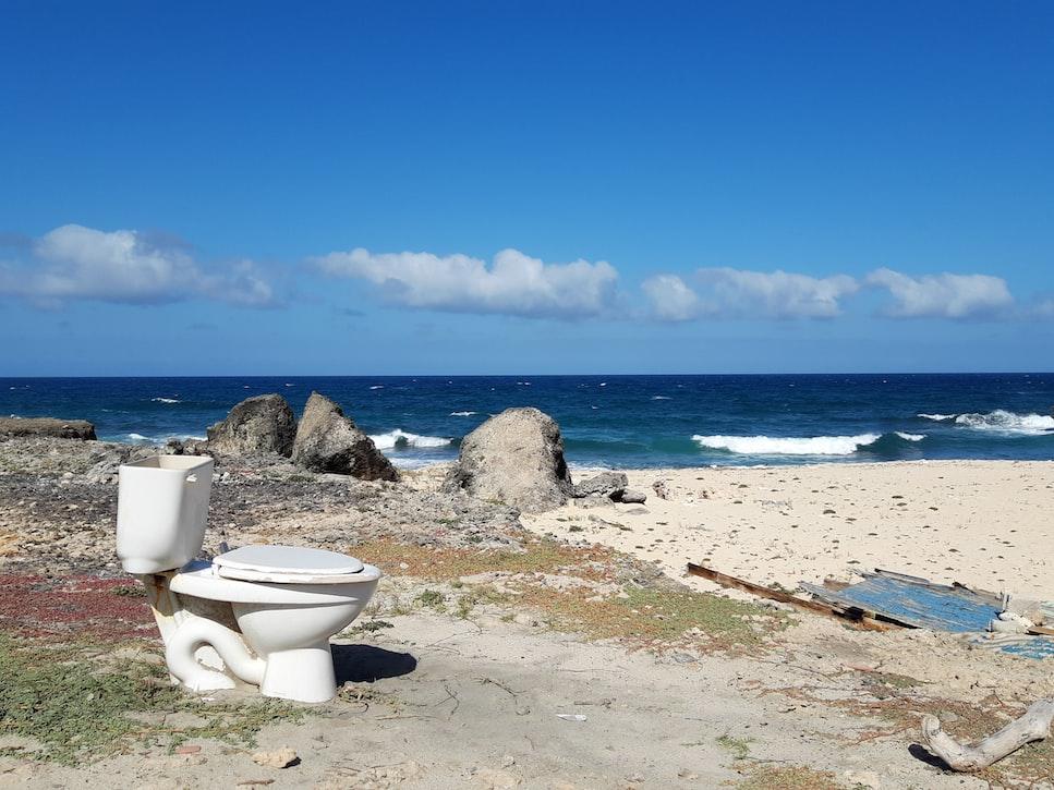 toilet near sea