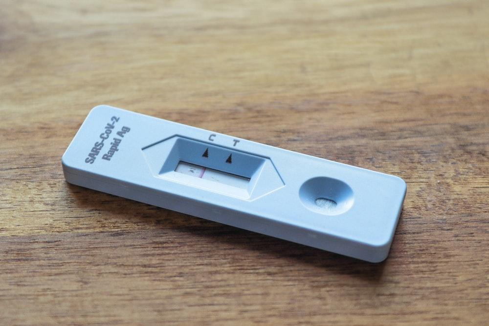 white and black rectangular device