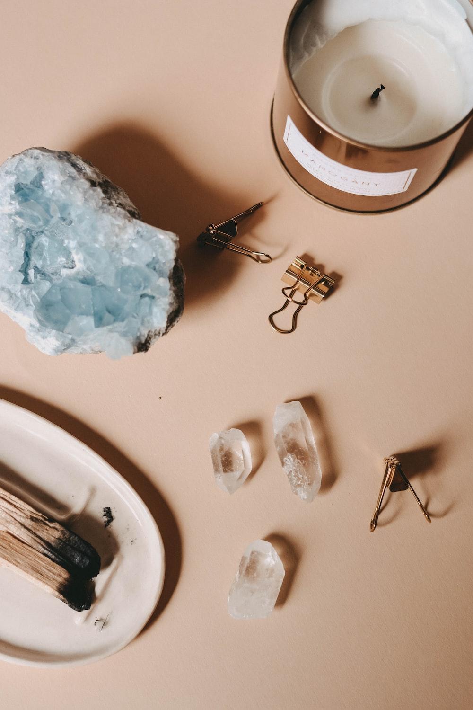 white ice on white table