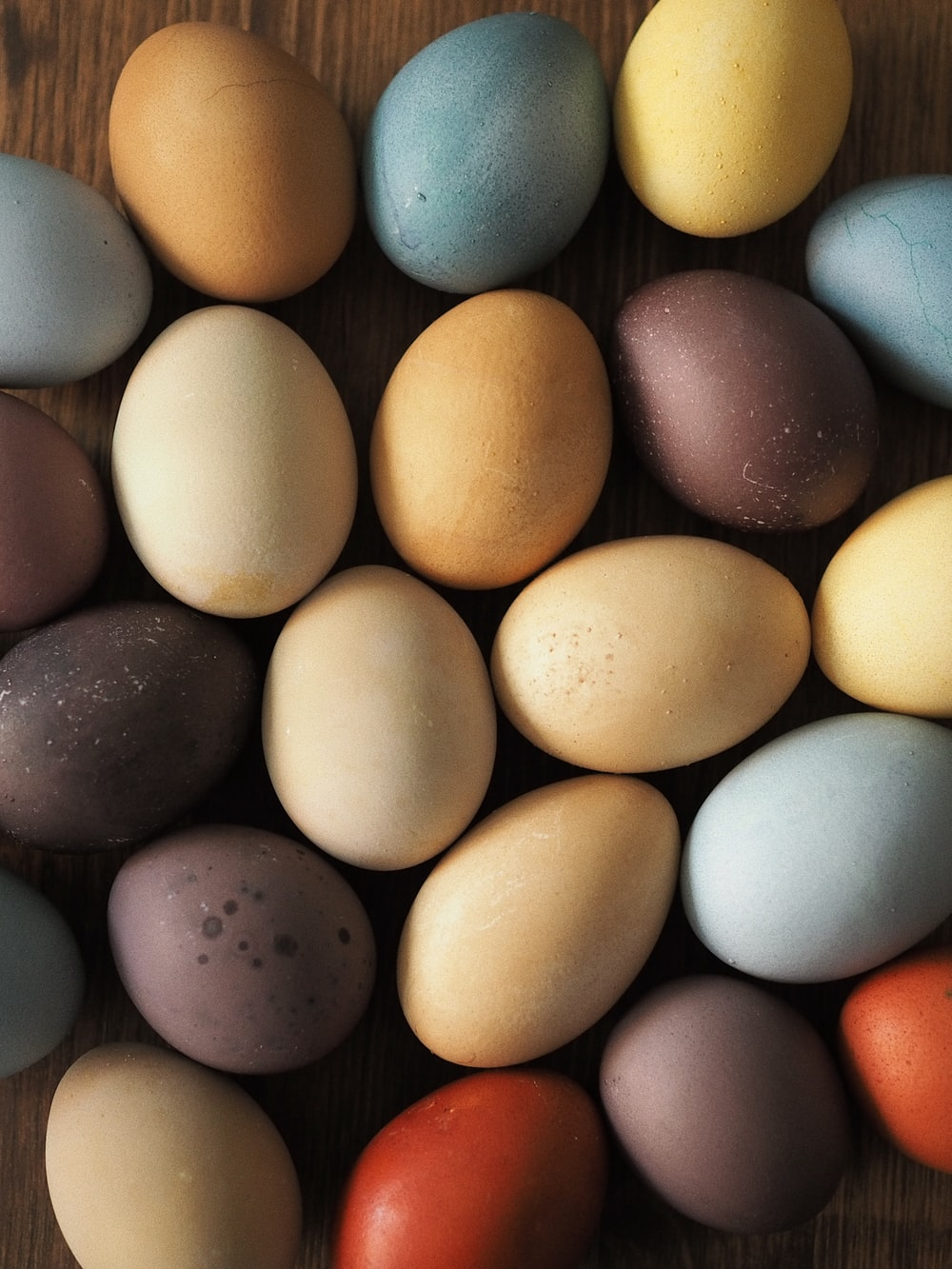 blue yellow and white egg
