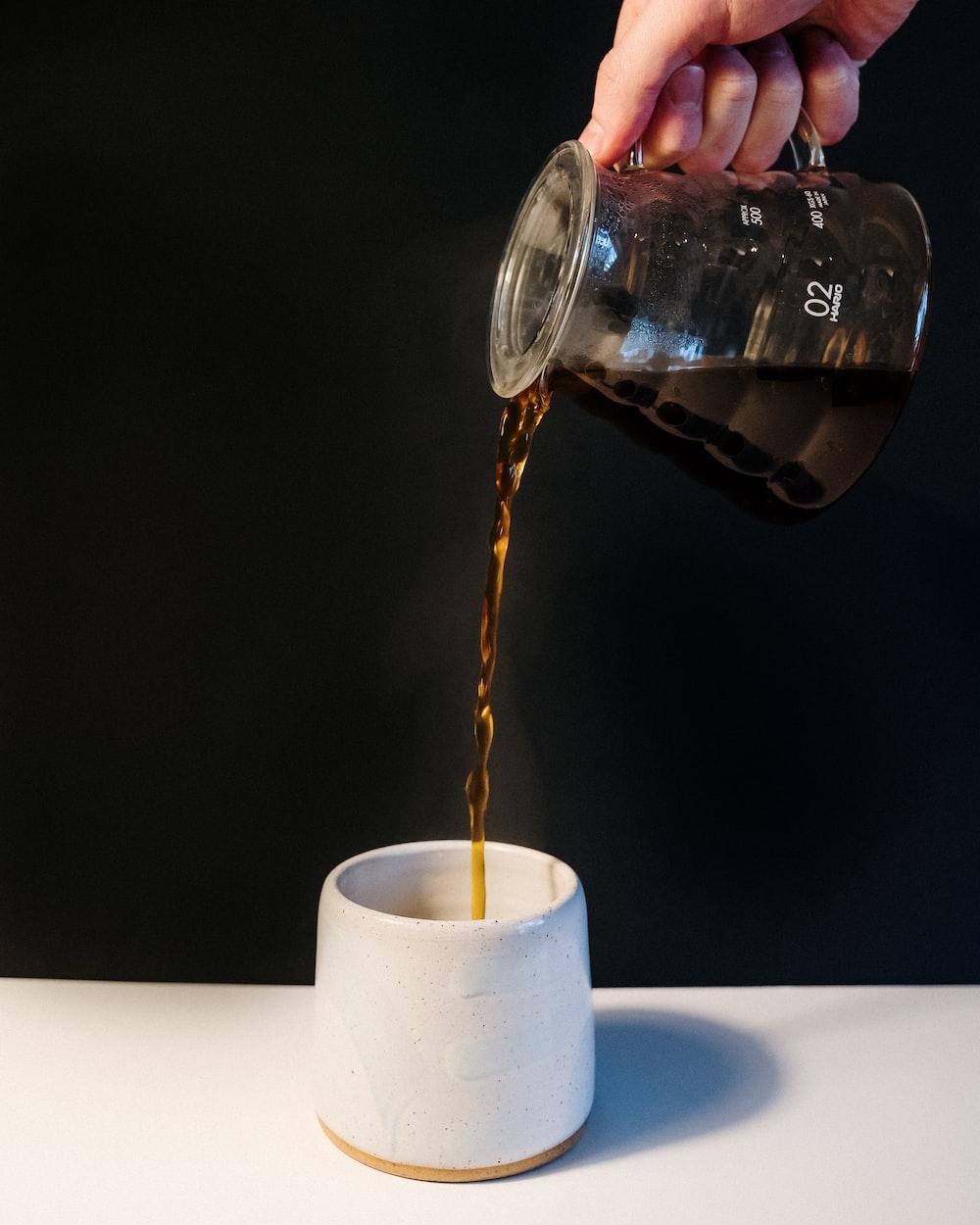 clear glass mug on white tissue paper