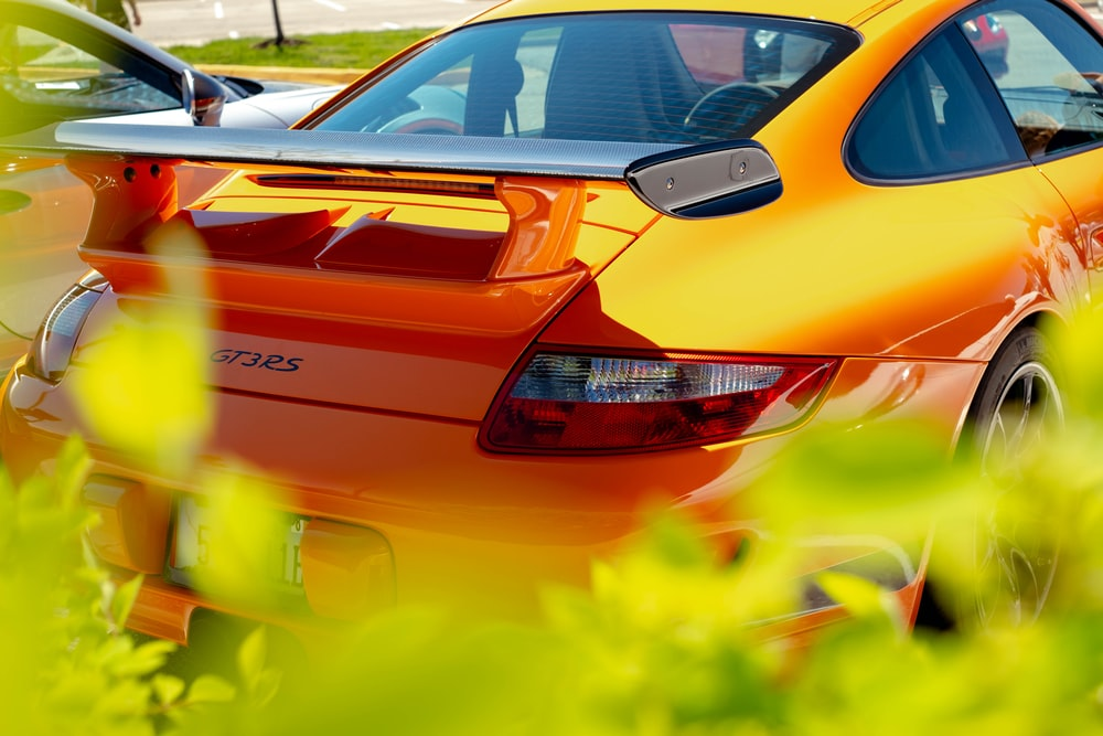 orange bmw m 3 coupe