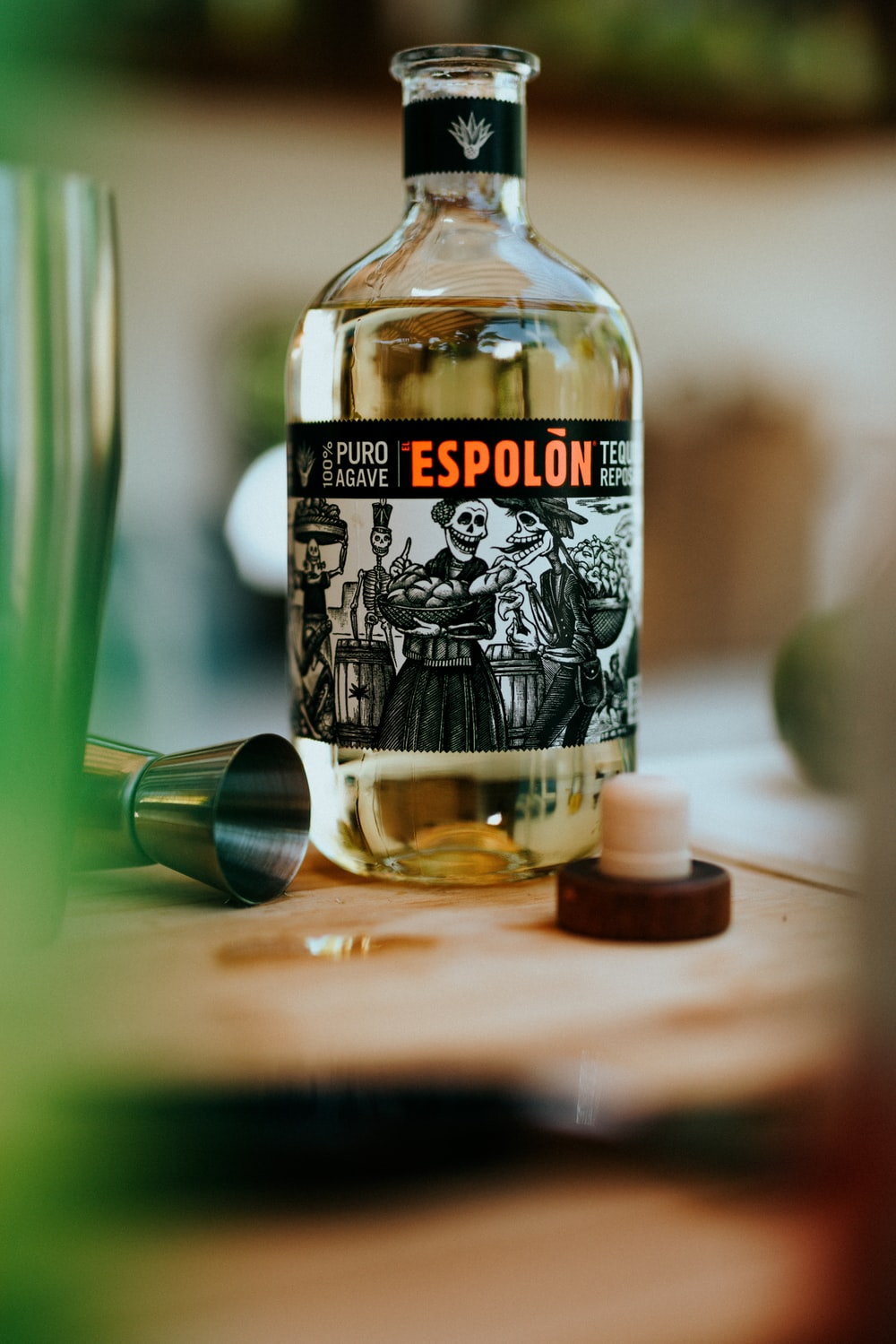 Espolòn Tequila labeled bottle