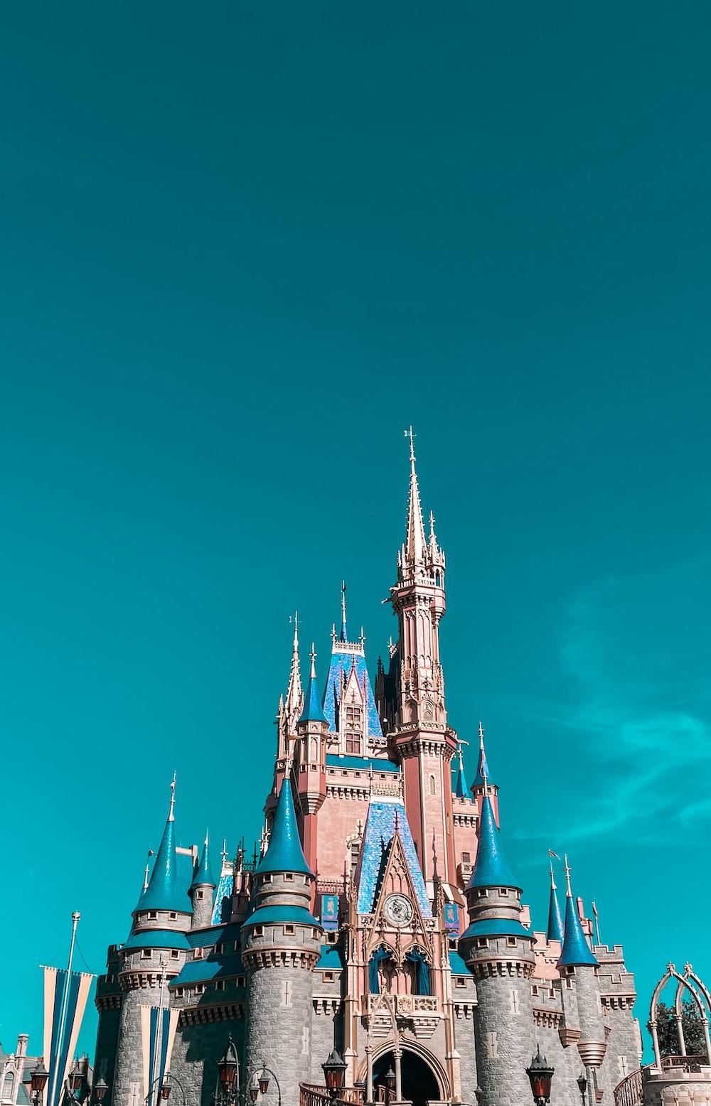 blue and white castle under blue sky
