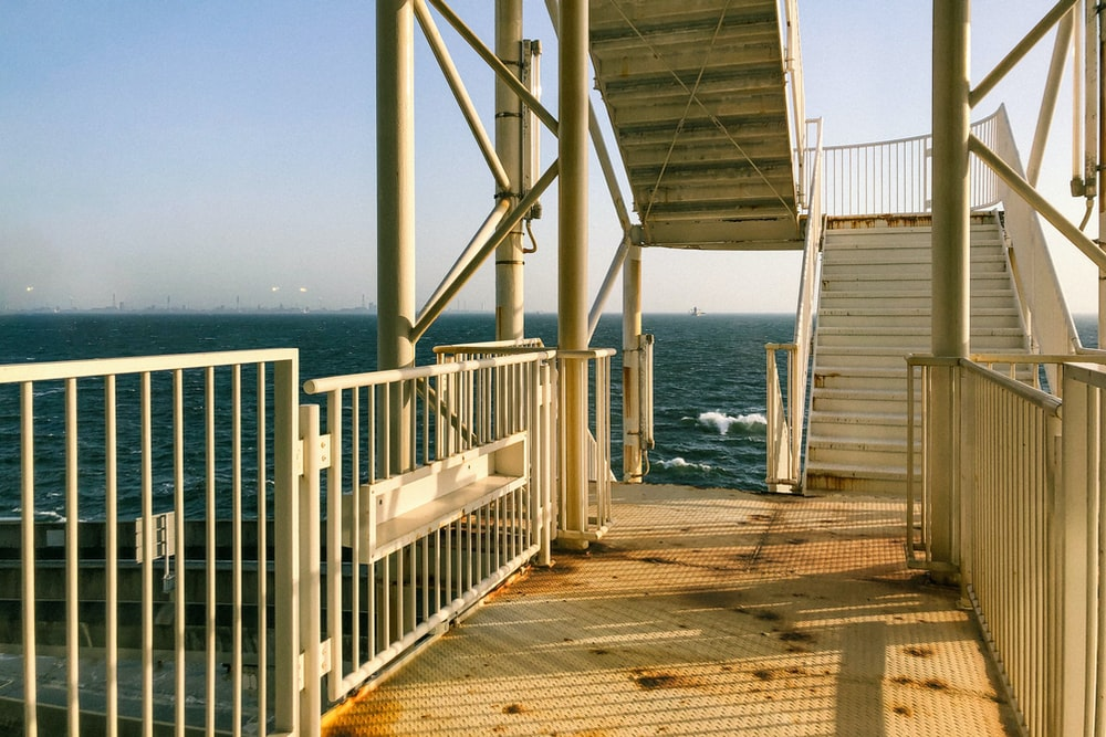 white wooden dock on sea during daytime